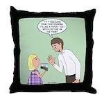 Postcard Explanation Throw Pillow