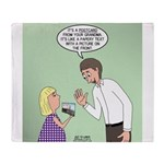 Postcard Explanation Throw Blanket