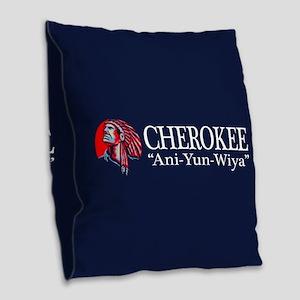 Cherokee Burlap Throw Pillow