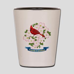 North Carolina Cardinal & Dogwood Shot Glass