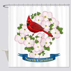 North Carolina Cardinal & Dogwood Shower Curta