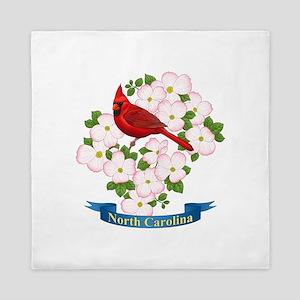 North Carolina Cardinal & Dogwood Queen Duvet