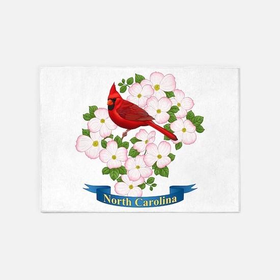 North Carolina Cardinal & Dogwood 5'x7&#39