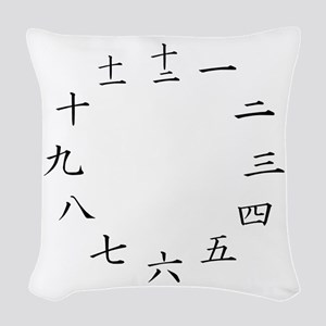 wallclock Woven Throw Pillow