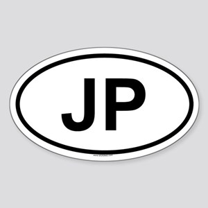JP Oval Sticker