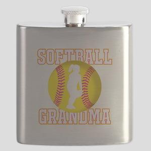 Softball Grandma - Fielder Flask