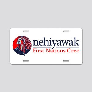 Nehiyawak Aluminum License Plate