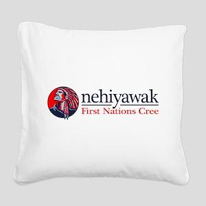 Nehiyawak Square Canvas Pillow