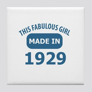 This Fabulous Girl Made In 1929 Tile Coaster