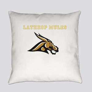 Gold Fighting Mule Everyday Pillow