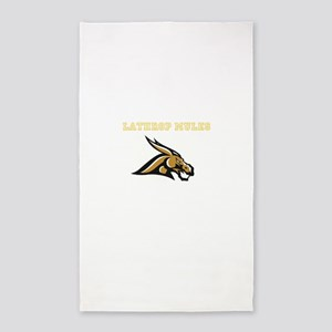 Gold Fighting Mule Area Rug