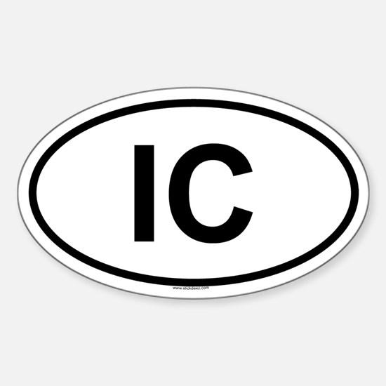 IC Oval Decal