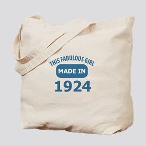This Fabulous Girl Made In 1924 Tote Bag