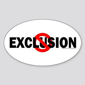 Stop Exclusion Oval Sticker