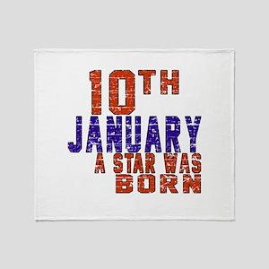 10 January Birthday Designs Throw Blanket