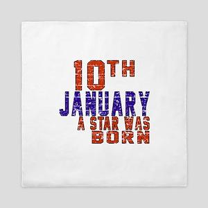 10 January Birthday Designs Queen Duvet