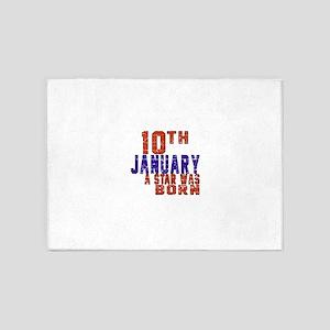 10 January Birthday Designs 5'x7'Area Rug