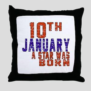 10 January Birthday Designs Throw Pillow