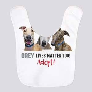 Grey Lives Matter Too ADOPT! Polyester Baby Bib