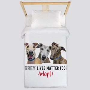 Grey Lives Matter Too ADOPT! Twin Duvet