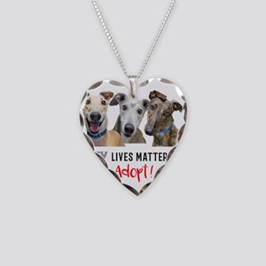 Grey Lives Matter Too ADOPT! Necklace Heart Charm