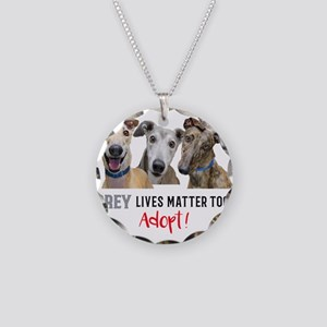 Grey Lives Matter Too ADOPT! Necklace Circle Charm