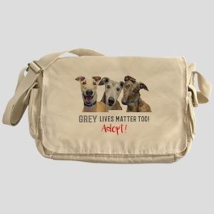 Grey Lives Matter Too ADOPT! Messenger Bag