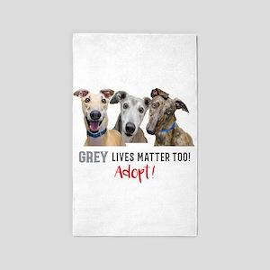 Grey Lives Matter Too ADOPT! Area Rug