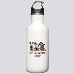 Grey Lives Matter Too Stainless Water Bottle 1.0L