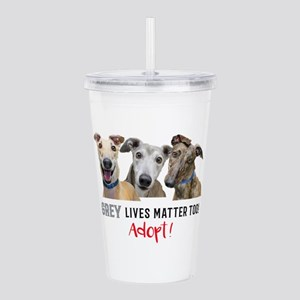 Grey Lives Matter Too Acrylic Double-wall Tumbler