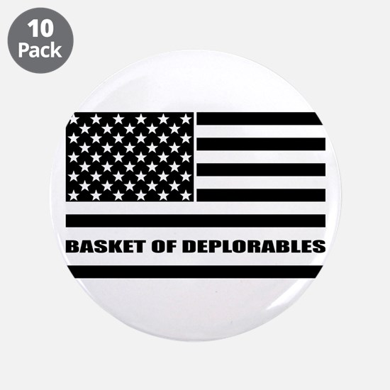 "Basket of Deplorables 3.5"" Button (10 pack)"