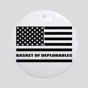 Basket of Deplorables Round Ornament