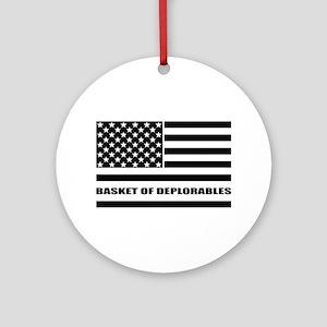 Basket of Deplorables Round Ornament