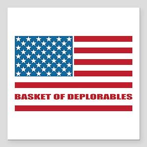 """Basket of Deplorables Square Car Magnet 3"""" x 3"""""""