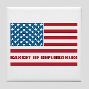 Basket of Deplorables Tile Coaster