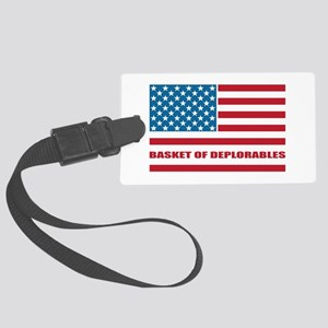 Basket of Deplorables Large Luggage Tag