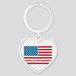Basket of Deplorables Heart Keychain