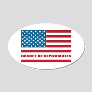 Basket of Deplorables 20x12 Oval Wall Decal
