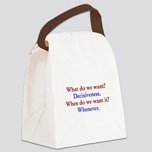 Decisiveness Soon Canvas Lunch Bag