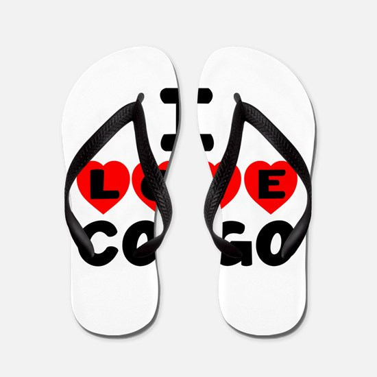 I Love Congo Flip Flops