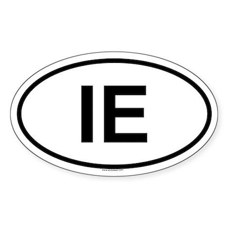 IE Oval Sticker