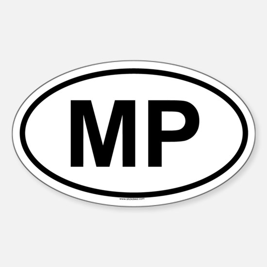 MP Oval Decal