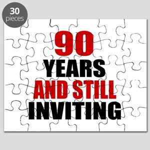 90 Years And Still Inviting Birthday Design Puzzle