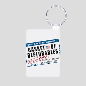 Basket of Deplorables Aluminum Photo Keychain