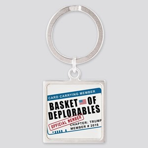 Basket of Deplorables Square Keychain