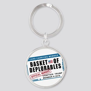 Basket of Deplorables Round Keychain