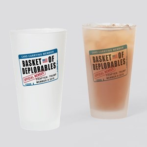 Basket of Deplorables Drinking Glass