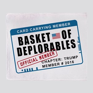 Basket of Deplorables Throw Blanket