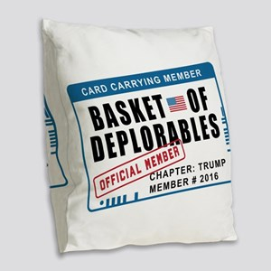 Basket of Deplorables Burlap Throw Pillow