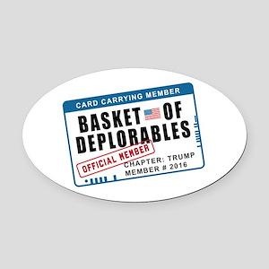 Basket of Deplorables Oval Car Magnet